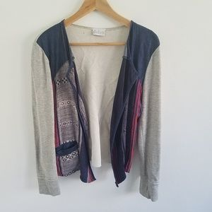 Anthro Dolan Silk Blend Open Front Cardigan  M
